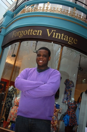 Daniel Blyden outside Forgotten Vintage